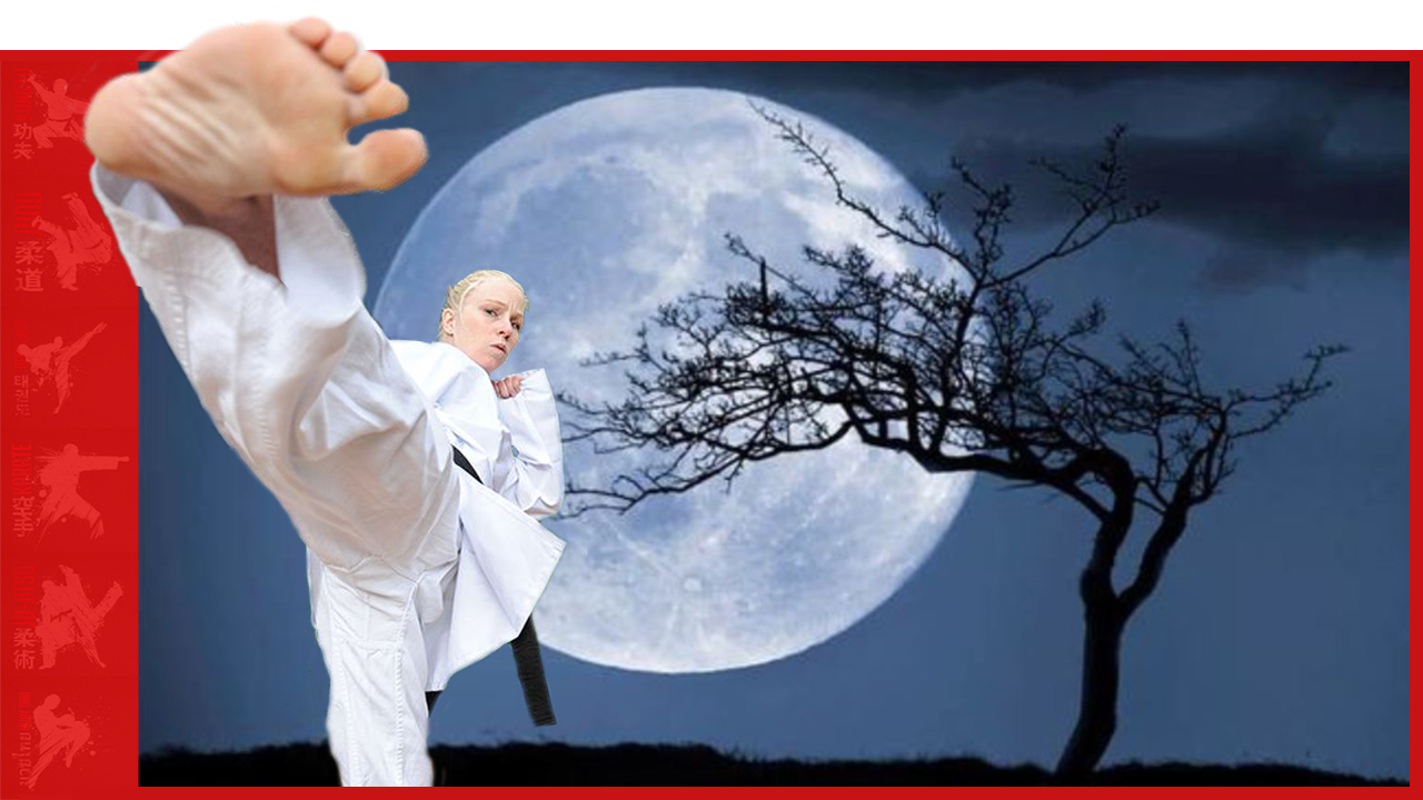 Karate Girl Kicking Demo